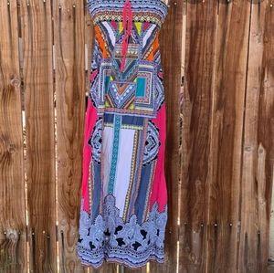 Flying Tomato Aztec Printed Maxi Dress